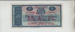 AB427. The British Linen Bank £1 Banknote 31st March 1962 #X/3 301402 FREE UK P+P - [ 3] Scotland