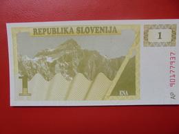 SLOVENIE 1 TOLAR 1990 PEU CIRCULER/NEUF - Slovénie