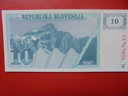 SLOVENIE 10 TOLARJEV 1990 PEU CIRCULER/NEUF - Eslovenia