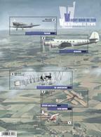 Blok 235** Vlucht Door De Tijd-Oude Belgische Vliegtuigen 4588/92**/ Vol à Travers Le Temps -Anciens Avions Belges - Blocs 1962-....
