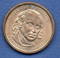 USA  -  1 Dollar 2007  - James Madison  - état  SUP - 2007-…: Presidents