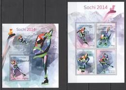 ST1660 2014 S. TOME & PRINCIPE SPORT OLYMPIC GAMES SOCHI 2014 KB+BL MNH - Inverno 2014: Sotchi