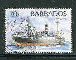 BARBADES- Y&T N°897- Oblitéré (bateaux) - Barbades (1966-...)
