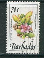 BARBADES- Y&T N°762- Oblitéré (fleurs) - Barbades (1966-...)