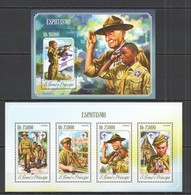 ST1700 2014 S. TOME E PRINCIPE SCOUTISME SCOTS ESCOTISMO KB+BL MNH - Scoutisme