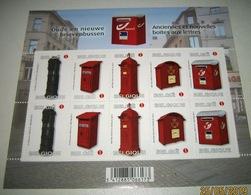 België  4130/34** Oude En Nieuwe Brievenbussen / Anciennes Et Nouvelles Boîtes Aux Lettres - Plaatnummer 1 - Panes