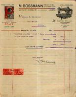 ANVERS – M. BOSSMANN Mécanicien Constructeur – Facture Illustrée (1926) - Belgique