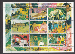 Niger MNH Sheet Paul Gauguin - Niger (1960-...)