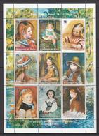 Niger MNH Sheet Pierre Auguste Renoir 1841-1919 - Niger (1960-...)