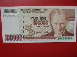 TURQUIE 100.000 LIRA 1970(97) PEU CIRCULER/NEUF - Turquie