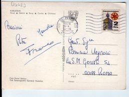 U4483 POSTCARD 1978 KARLSTEJN, BURG + NICE STAMP, BOLLO AFFRANCATO _ FOTO KAREL SEFRNA - Repubblica Ceca