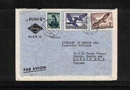 Austria / Oesterreich 1954 Echt Gelaufenes Luftpostbrief Mit Seltene Frankatur - Poste Aérienne