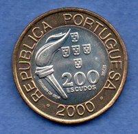 Portugal -  200 Escudos 2000    -  Km # 726  -  état  SPL - Portugal