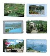 12 Télécartes Japon Japan Toutes Différentes Phonecard Paysage Pont Bridge Ponts (D 542 / 543) - Landschappen