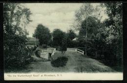 Ref 1296 - 1909 USA Postcard - The Wurtemburgh Road At Rhinebeck New York - 2c Rate To Cheshire UK - NY - New York