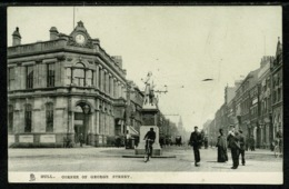 Ref 1296 - Early Raphael Tuck Postcard - Corner Of George Street - Hull Yorkshire - Hull