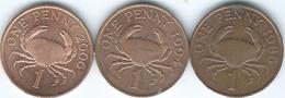 Guernsey - Elizabeth II - 1 Penny - 1986 (KM40 - Non-magnetic) 1994 (KM40a - Magnetic) & 2006 (KM89 - Magnetic) - Guernesey