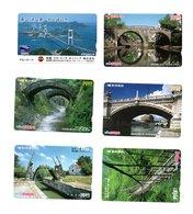 12 Télécartes Japon Japan Phonecard Toutes Différentes Paysage Pont Bridge Ponts Cartes Prépayées(D 546 / 547) - Landschappen