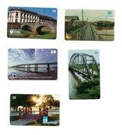 5 Télécartes Brésil  Phonecard Toutes Différentes  Paysage Pont Bridge Ponts (D 539) - Paysages