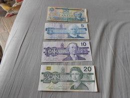 CANADA   DOLLARS  4   BILLETS  LOT - Canada