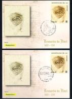 Italia Italy (2019) Leonardo Da Vinci (500th Anniversary Of Death) - Set Of 5 Official Postal Cards (as Scan) - Celebridades