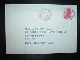 LETTRE TP LIBERTE 2,10 OBL. ROUGE 13-11 1984 972 FRANCOIS MARTINIQUE - Manual Postmarks