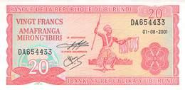 20 Burundi-Franc UNC 2001 - Burundi