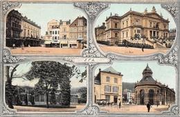 ¤¤    -  BELGIQUE   -  SPA    -   Multivues  -  Carte Publicitaire Des Chemins De Fer Belge   -   ¤¤ - Spa