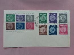 ISRAELE 1949 - F.D.C. Antiche Monete + Spese Postali - FDC