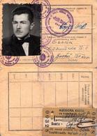 ANNUALLY RAILWAY TICKET , YUGOSLAVIA 1956 - Abonnements Hebdomadaires & Mensuels