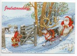 Modern Postcard Finland - Artist: Marjaliisa Pitkäranta - SANTA CLAUS - REINDEER - GNOME - USED - Kerstman