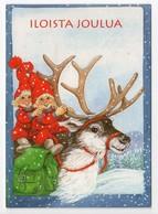 Modern Postcard Finland - Artist: Marjaliisa Pitkäranta - GNOMES - REINDEER - USED 2000 - Andere
