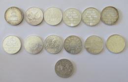 France - Collection De 13 Monnaies De 100 Francs Argent - 1982 + 1984 à 1995 (Pax / 8 Mai 1945) - SUP / SUP+ - France