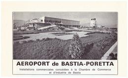1970 - Iconographie - Bastia (Corse) - L'aéroport Poretta - FRANCO DE PORT - Non Classés