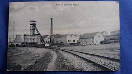 CPA MINE DE JONDREVILLE PUITS DE MINE CHEVALET RAIL VOIE FERREE ED J B MARIE LONGWY 1910 - Autres Communes