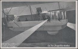Ansichtskarte Luftflotten-Verein: In Der Zeppelin-Gondel Feld-PK MAINZ 3.4.15 - Flugwesen