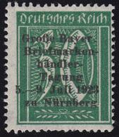Privater Zudruck Briefmarkenhändler-Tagung Nürnberg 1923 Auf 162, O.G./Falz - Philatelie & Münzen