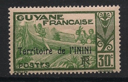Inini - 1932 - N°Yv. 9 - Pirogue 30c Vert - Neuf Luxe ** / MNH / Postfrisch - Inini (1932-1947)
