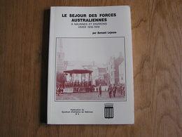 LE SEJOUR DES FORCES AUSTRALIENNES à Nalinnes Et Environs Hiver 1918 1919 Guerre 14 18 Australian Jamioulx Charleroi - War 1914-18