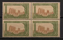 Tunisie - 1906-20 - N°Yv. 37 - Zaghouan 35c - Bloc De 4 - Neuf  Luxe ** / MNH / Postfrisch - Tunisie (1888-1955)