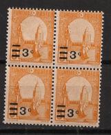 Tunisie - 1928 - N°Yv. 154 - Kairouan 3c Sur 5c Orange - Bloc De 4 - Neuf  Luxe ** / MNH / Postfrisch - Tunisie (1888-1955)