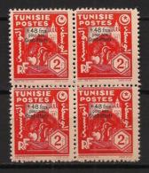 Tunisie - 1944 - N°Yv. 268 - +48f Sur 2f - Bloc De 4 - Neuf  Luxe ** / MNH / Postfrisch - Tunisia (1888-1955)