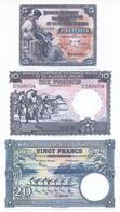Belgium Congo 5 Note Set 1952 COPY - Congo