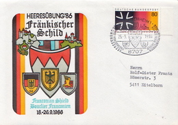 Postal History: Germany Military Cover Heeresübung'86 Frankisher Schild Veitshöchheim - Militaria