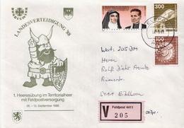 Postal History: Germany Military V Cover Landesverteidigung '88 Feldpost 4411 - Militaria