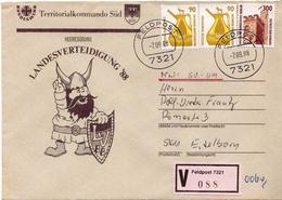 Postal History: Germany Military V Cover Landesverteidigung '88 Feldpost 7321 - Militaria