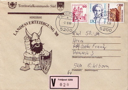 Postal History: Germany Military V Cover Landesverteidigung '88 Feldpost 5200 - Militaria