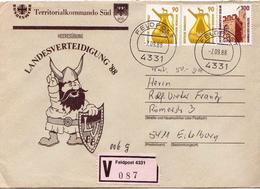 Postal History: Germany Military V Cover Landesverteidigung '88 Feldpost 4331 - Militaria