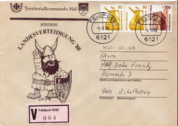 Postal History: Germany Military V Cover Landesverteidigung '88 Feldpost 6121 - Militaria