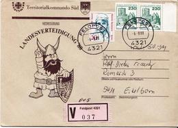 Postal History: Germany Military V Cover Landesverteidigung '88 Feldpost 4321 - Militaria